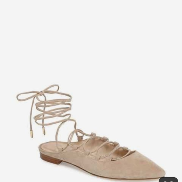Marc Fisher Shoes - Marc Fisher Sbrina Lace up Flat  Ballerina size 9